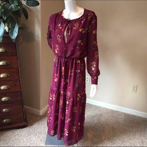 Wayf floral boho maxi dress